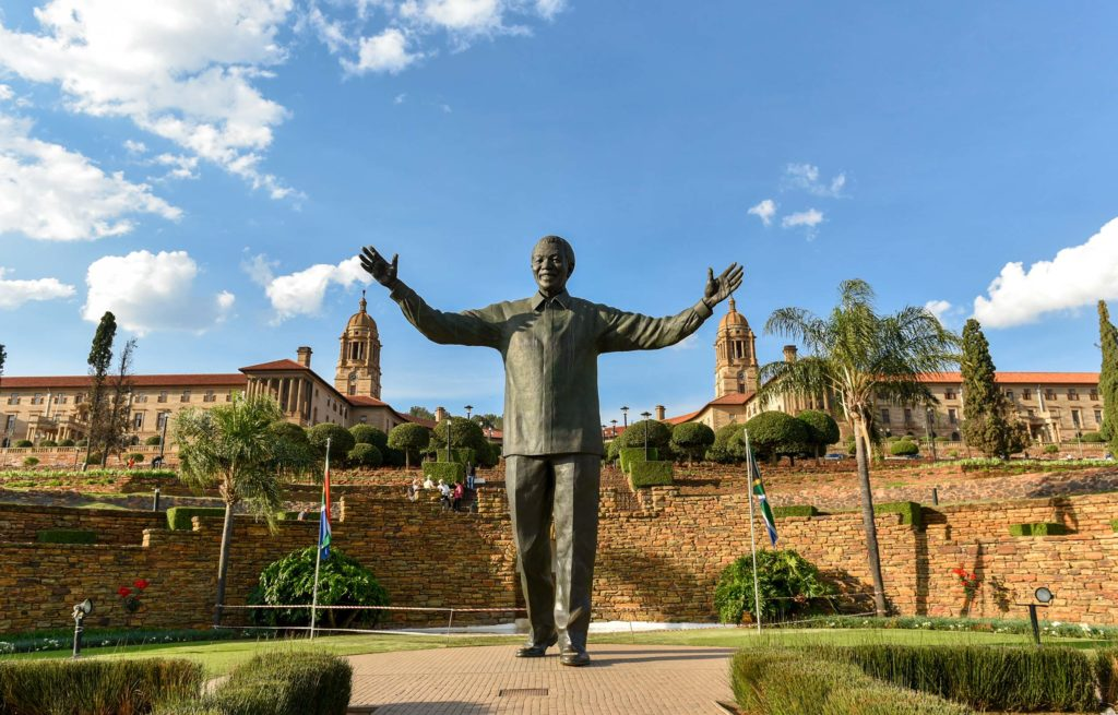 Voyage train Afrique du Sud - Statue Nelson Mandela - Union Buildings - Pretoria