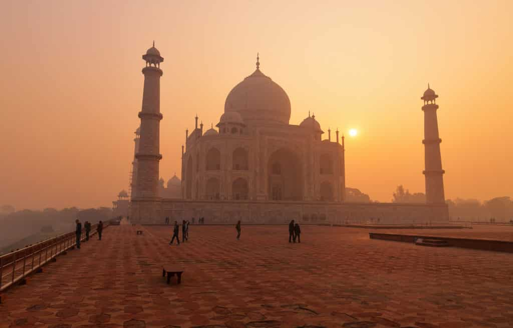 Voyage train Inde - Agra - Taj Mahal - Sunrise