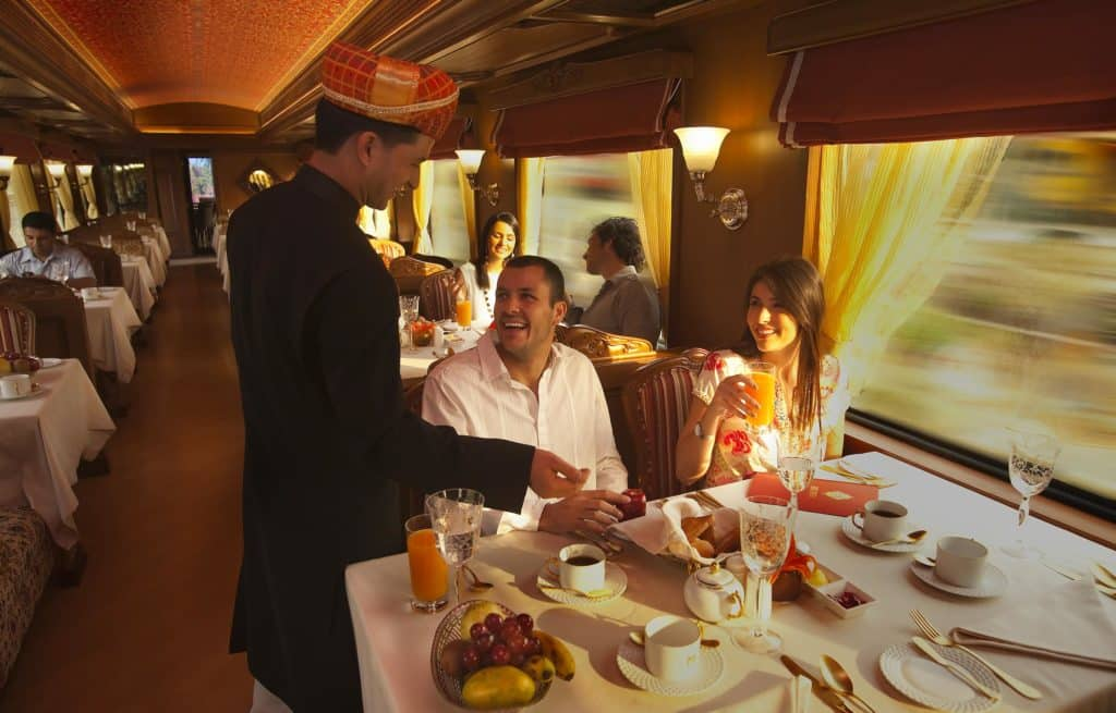 Voyage train Inde - Maharaja Express - Restaurant