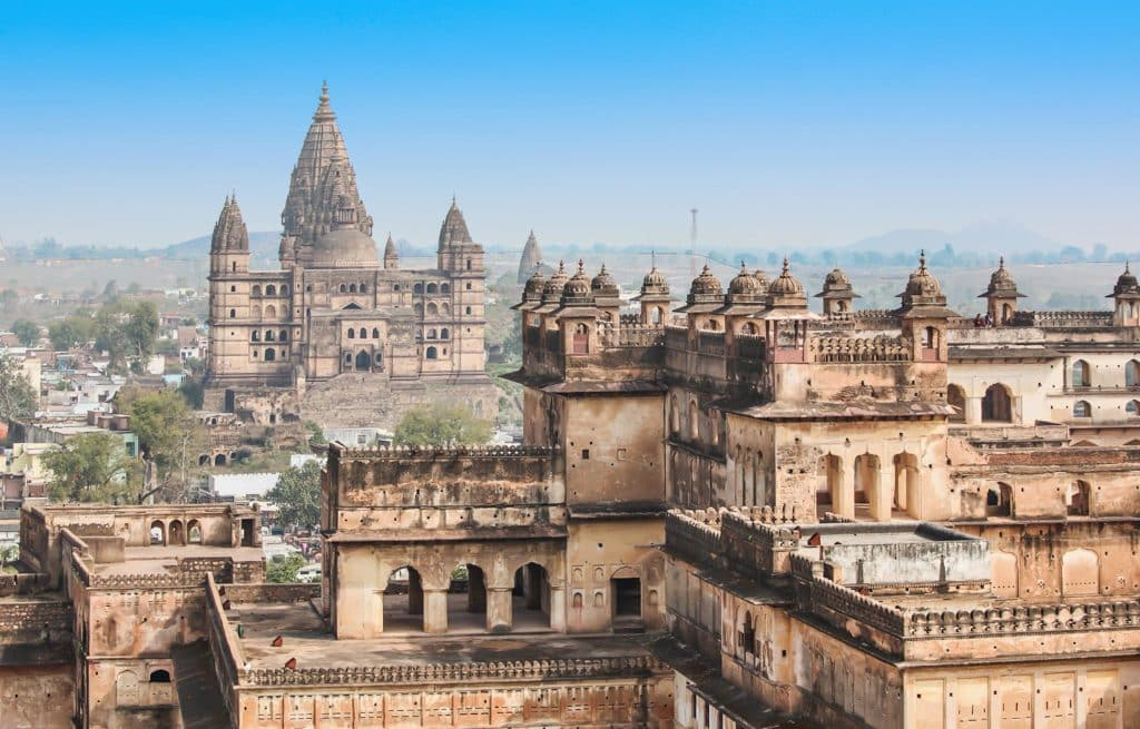 Voyage train Inde - Orchha - Temple Chaturbhuj