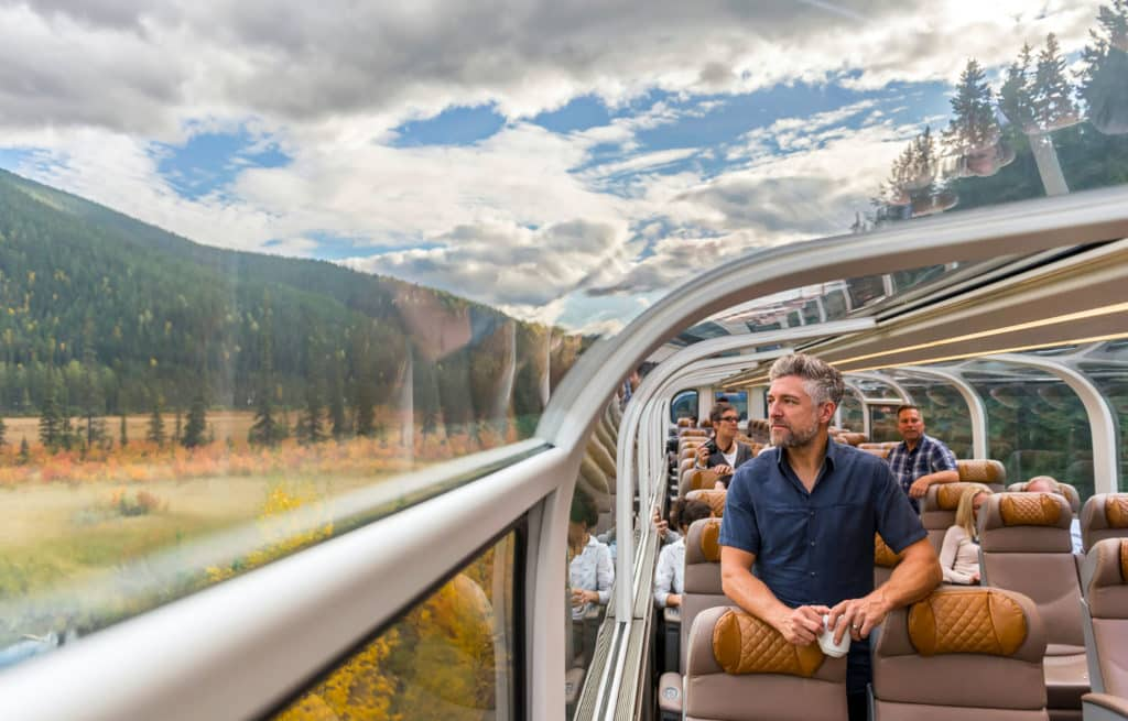 Voyage train Canada - Rocky Mountaineer - Vue panoramique