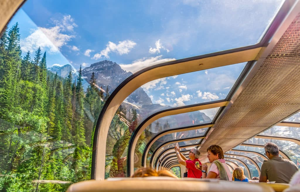 Voyage train Canada - Rocky Mountaineer - Vue Panoramique Banff
